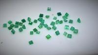 Smaragdi 2-2,5  x 2  - 2,5mm