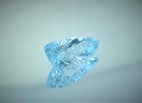 Käsin hiottu fancy hiontainen topaasi, sky blue 4,9ct