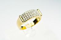 Timantti ( 40 kpl ) kultainen sormus / kultajousi uutta vastaavassa kunnossa aitoustodistuksella