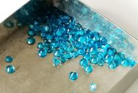 Madagasgarin Apatiitti  briljantti , erikoisen kirkas turkoosin sininen