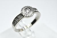 Valko  kultainen timantti sormus / kultajousi uutta vastaavassa kunnossa aitoustodistuksella