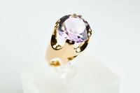 Valkokultainen Tillanderin  timantti / jalokivi sormus koko 16,5mm