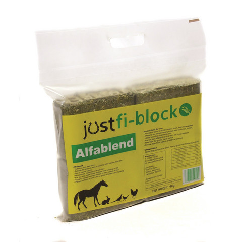 Just-Fi Alfalfa heinäkuutio 4-pack