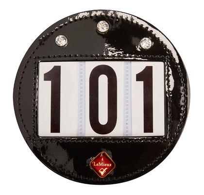 LeMieux Hamag  kilpanumerot 'timanteilla' pyöreä (musta)