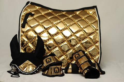 Horse modern design Metallic Gold-setti