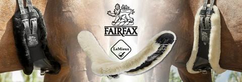 LeMieux FAIRFAX lampaankarvapehmustettu muotoiltu satulavyön suojus.
