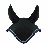 Woof Wear ääniä vaimentava korvahuppu (musta, navy silver koristeella)
