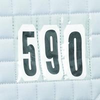 LeMieux ProSport valkoinen kouluhuopa numerotaskuilla ja numeroilla