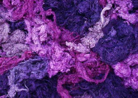 silkkitrasseli 10 g, laventeli 801, käsinvärjättty silkki