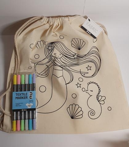 Merenneito- kuvioinen jumppakassi+ värit