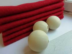 TONTTU punainen neulahuopapala 20 x 20 cm