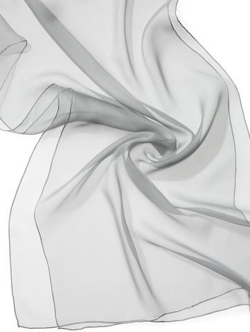 44909 grafiitinharmaa, silkkisifonkihuivi