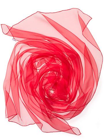 44933 tomaatinpunainen, silkkisifonkihuivi