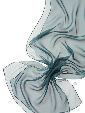 44974 tumma turkoosi (jasper), silkkisifonkihuivi