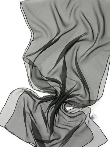 44975 tummanvihreä, silkkisifonkihuivi