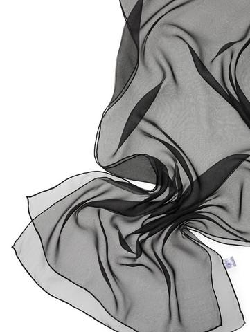 44980 musta, silkkisifonkihuivi