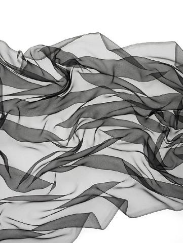 Silkkisifonki musta lev. 115 cm