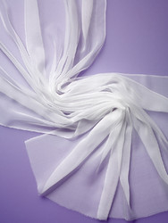 Silkkisifonki (3.5) valkoinen lev. 90 cm 14 g / m