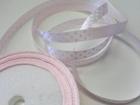Nauha 1 m, leveys 10 mm, vaaleanpunainen satiininauha