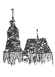 Petäjäveden vanhan kirkon siivousliina