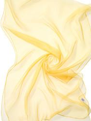 44920 keltainen (kylmä), silkkisifonkihuivi
