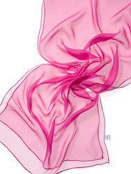 44935 pinkki, silkkisifonkihuivi