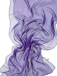 44969 violetti, silkkisifonkihuivi