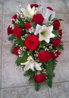 Punainen ruusu, lilja