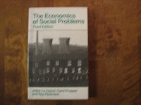 The Economics of Social Problems, Julian Le Grand, Carol Propper, Ray Robinson