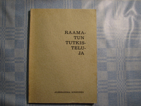 Raamatun tutkisteluja, Aleksandra Kinnunen