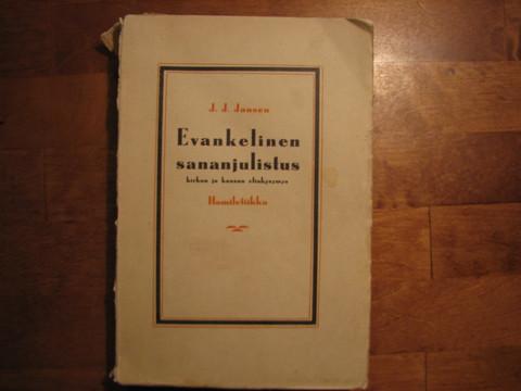 Evankelinen sananjulistus, kirkon ja kansan elinkysymys, homiletiikka, J.J. Jansen