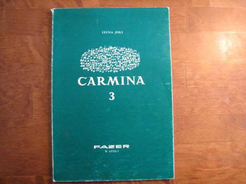 Carmina 3, hengellistä musiikkia sekakuoroille, Leena Joki