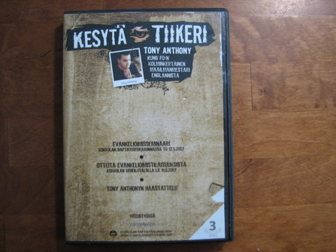 Kesytä tiikeri, puhe dvd, Tony Anthony