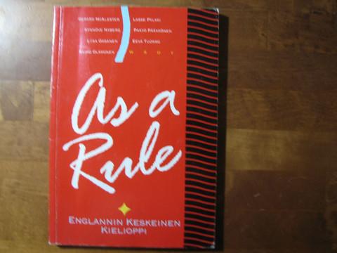As a rule, englannin keskeinen kielioppi, Gererd McAlester ym.