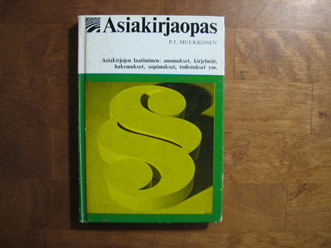 Asiakirjaopas, P.J. Muukkonen
