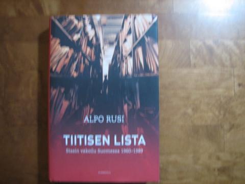 Tiitisen lista, Stasin vakoilu Suomessa 1960-1989, Alpo Rusi