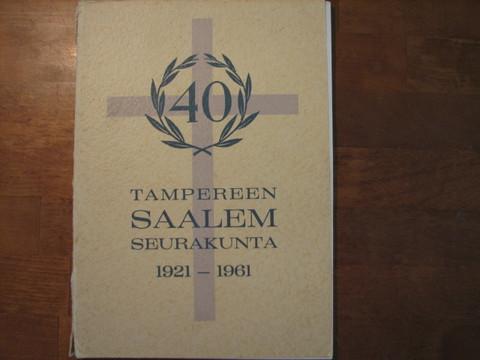 Tampereen Saalem- seurakunta 1921-1961