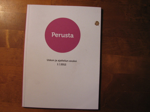 Perusta-lehti, uskon ja ajattelu avuksi, 1 / 2012