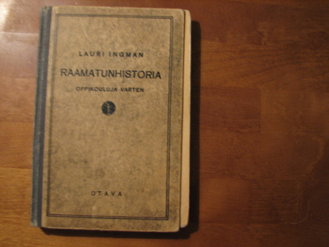 Raamatunhistoria oppikouluja varten, Lauri Ingman