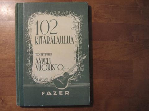 102 kitaralaulua, Aapeli Vuoristo (toim.)