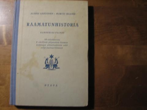 Raamatunhistoria, Aleksi Lehtonen, Martti Haavio