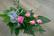 vaaleanpunainen ruusukimppu