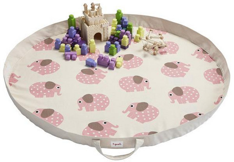 3 Sprouts Leikkimatto Play Mat Bag, Norsu