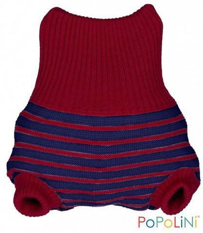Popolini villahousut (Berry-navy stripes)
