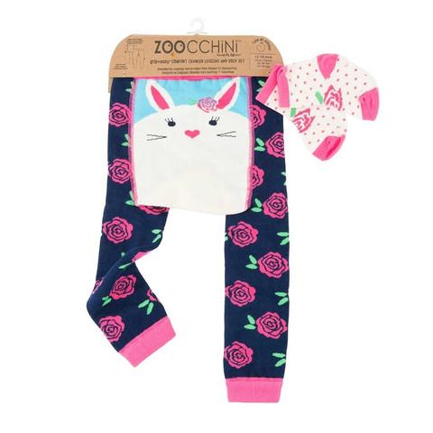 Zoocchini leggingsit + sukat setti (Bella the Bunny)
