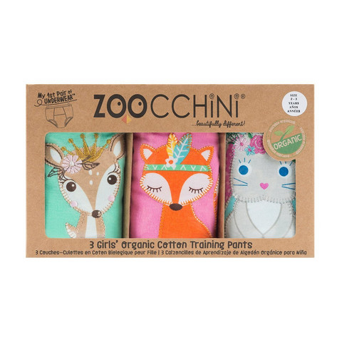 Zoocchini Harjoitteluhousut 3 kpl Woodland Princesses