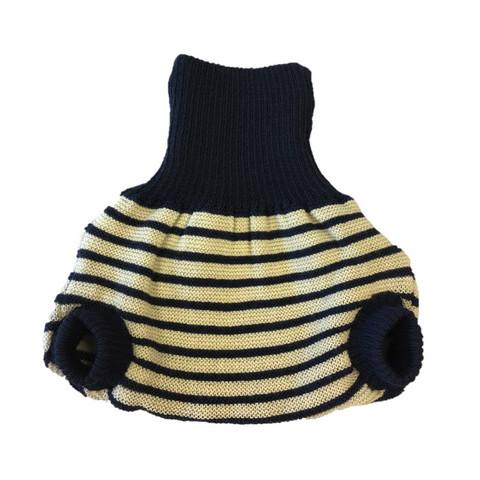 Popolini villahousut (Navy-natural stripes)