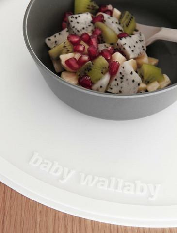 Baby Wallaby Ruokailualusta, valkoinen