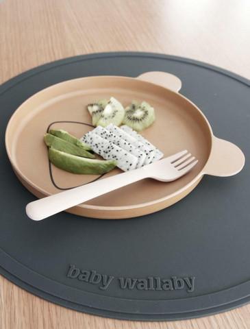 Baby Wallaby Ruokailualusta, tummanharmaa