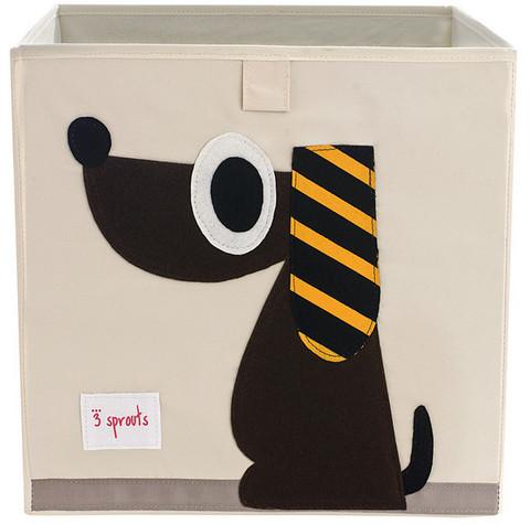 3 Sprouts Säilytyslaatikko Koira